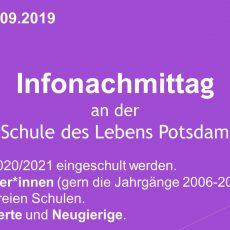 28.9.2019 – Infonachmittag für Schulstart 2020 und Quereinsteiger*innen